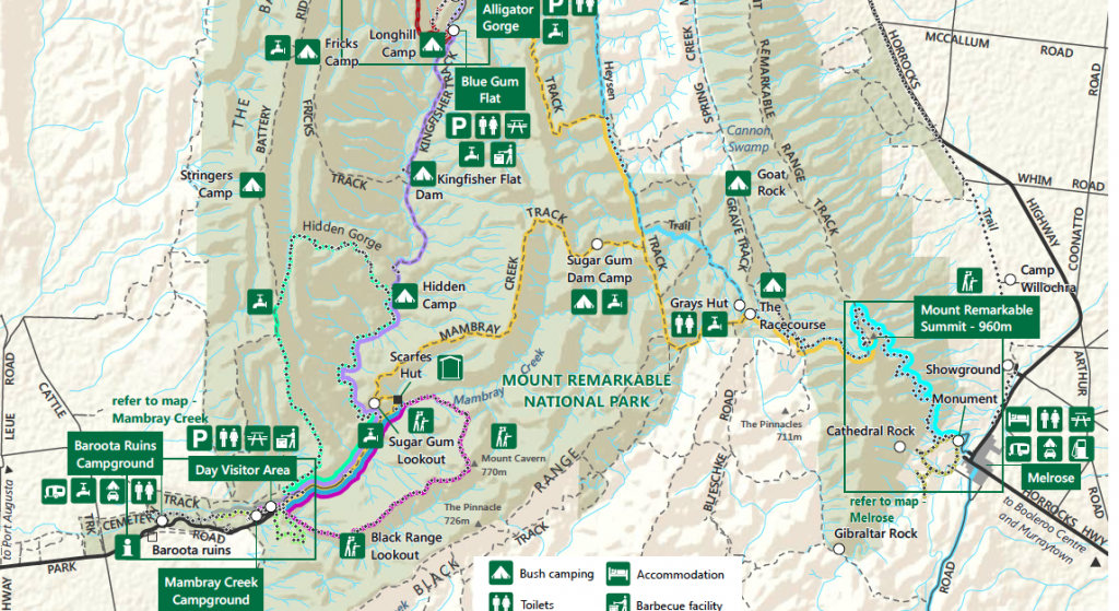 Mount Remarkable Map