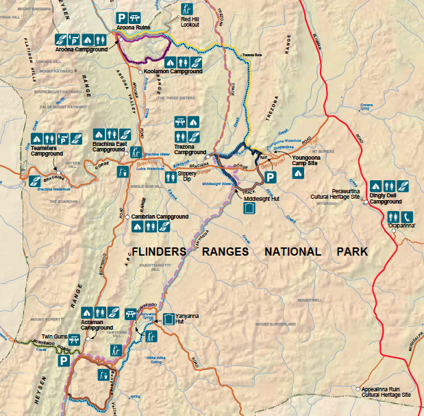 Ikara-Flinders Ranges carte
