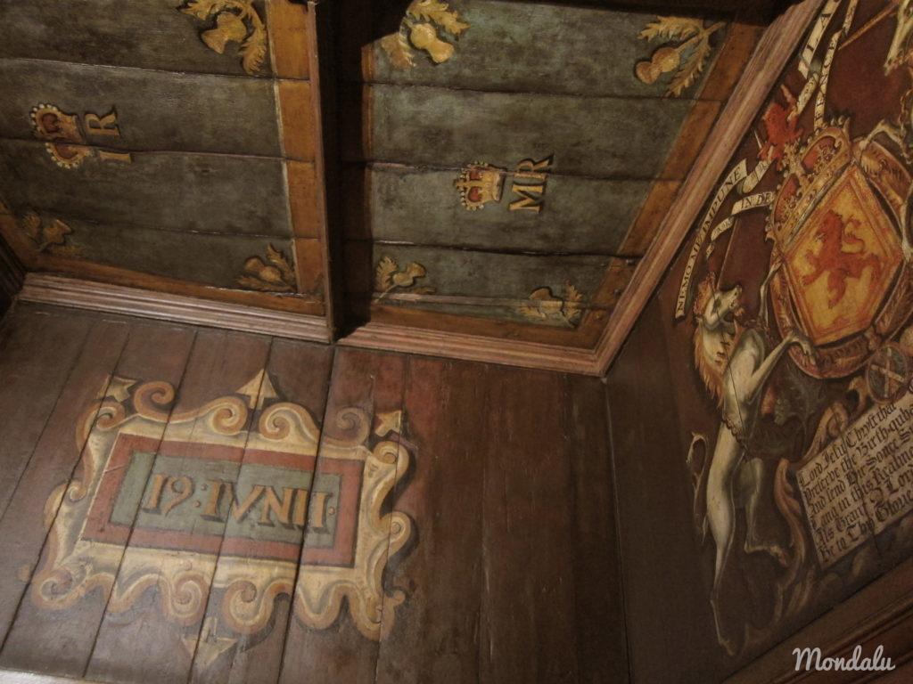 Photo des peintures murales se trouvant au château d'Edimbourg