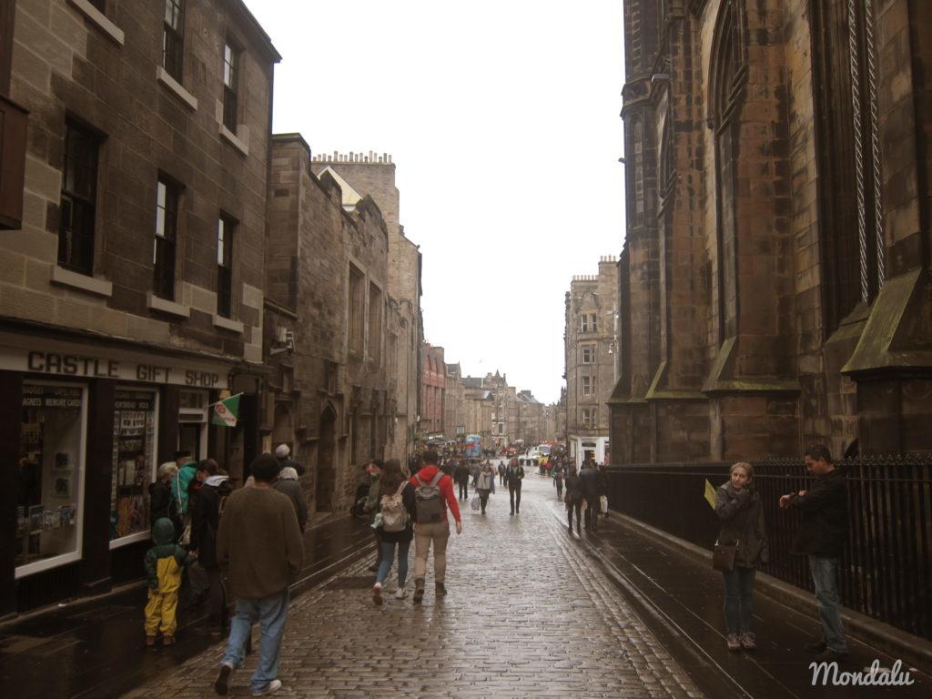 Photo des rues du vieux Edimbourg