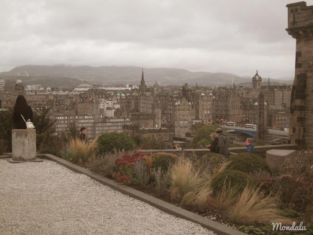 Photo de la ville d'Edimbourg, vu du Calton Hill