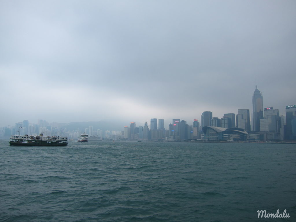 Vue de la Baie de Hong-Kong du Star Ferry